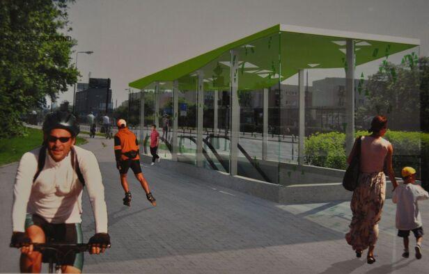Tak będzie wyglądać wyjście ze stacji Księcia Janusza Metro Warszawskie