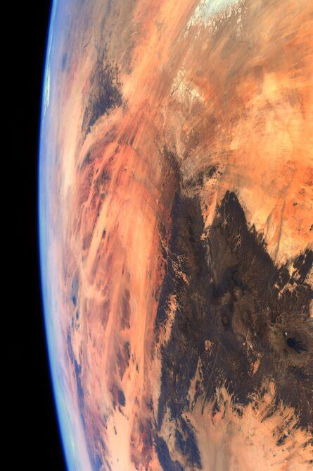 Zdjęcie satelitarne Ziemi (ESA/NASA–T. Pesquet)