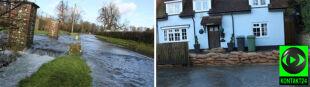 """Brytyjczycy walczą z wodą. """"Mimo zalanych ulic, listonosz wciąż donosi pocztę"""""""
