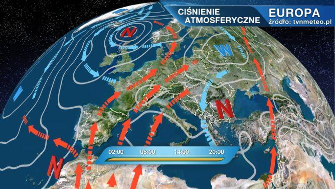 Queenie kształtuje pogodę w Polsce