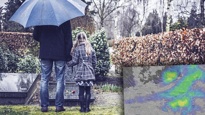 Wszystkich Świętych i Zaduszki pod parasolami