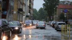 Skutki gwałtownego załamania pogody w Świnoujściu