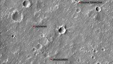 Rozłożenie lądownika, osłony termicznej i spadochronu (NASA)