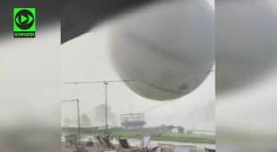Silny wiatr zniszczył balon widokowy w Krakowie