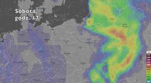 Potencjonalny rozwój burz w ciągu kolejnych pięciu dniu (Ventusky.com | wideo bez dźwięku)